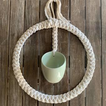 #poterie #ceramique #suspension #macrame #boheme #boho #nature #couronne #tresse #atelierterresnature